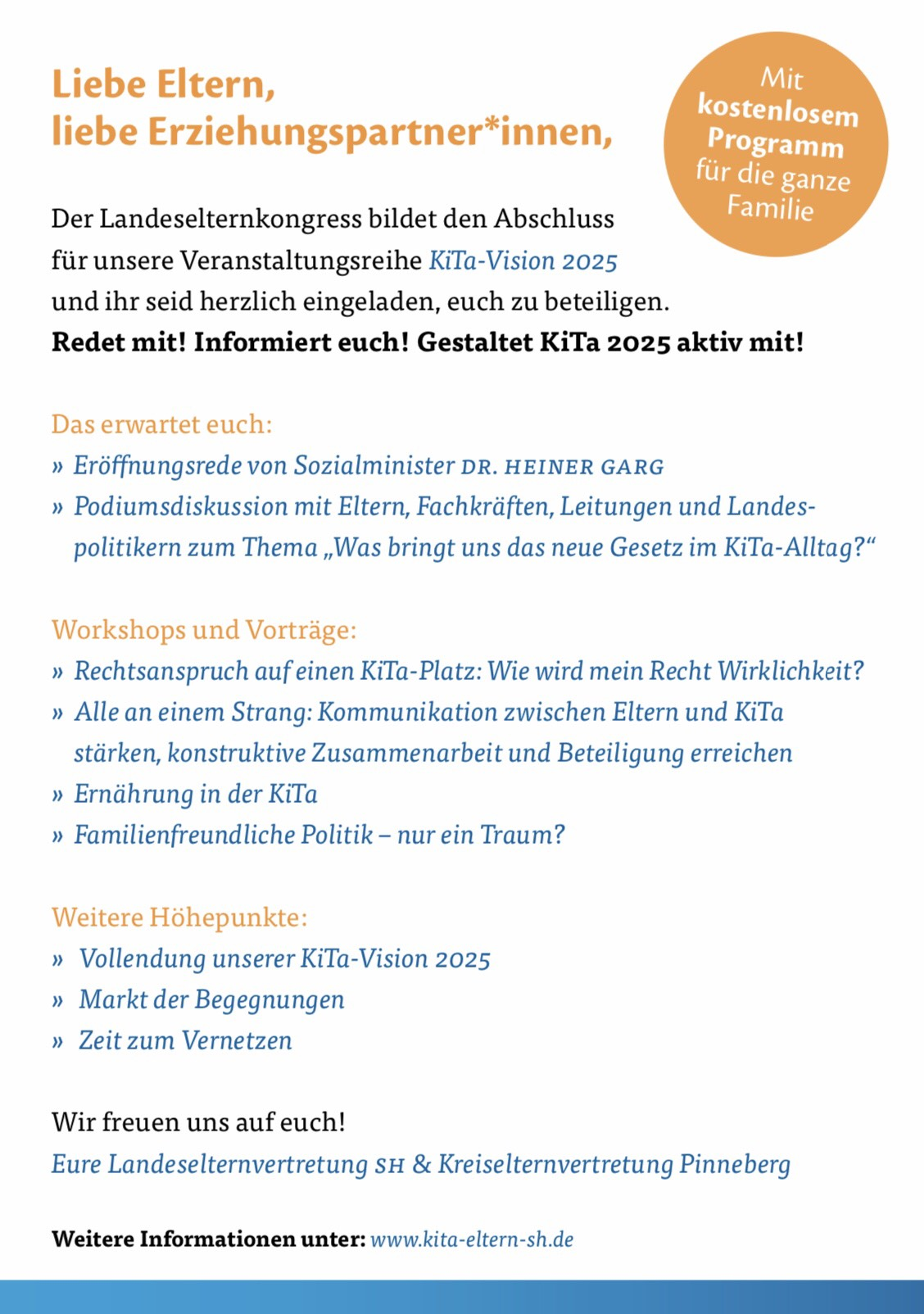 Freie-Demokraten-FDP-Stadtverband-Wedel-Soziales-Kita-Landeselternkongress-Plakat-Rückseite